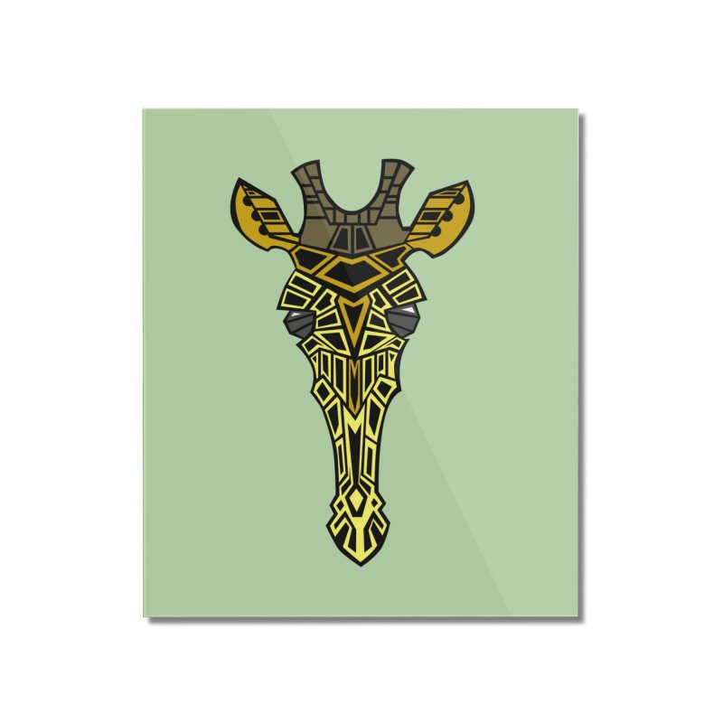 Giraffe Bot Home Mounted Acrylic Print by POP COLOR BOT