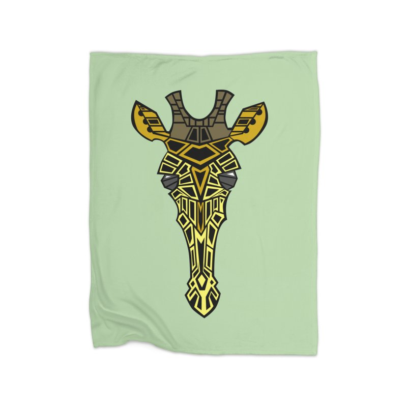 Giraffe Bot Home Fleece Blanket Blanket by POP COLOR BOT