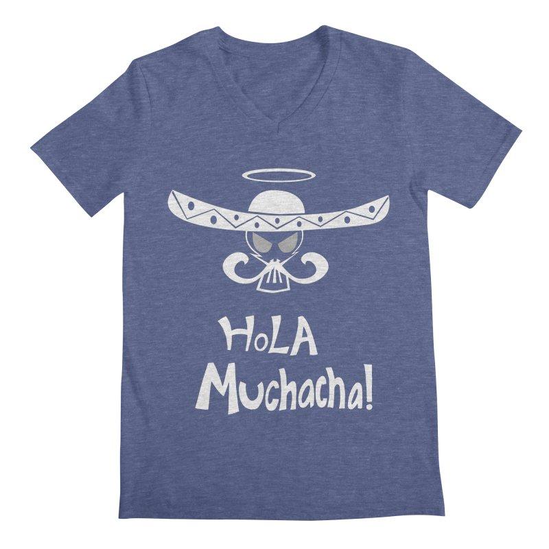 Hola CHA CHA! Men's Regular V-Neck by POP COLOR BOT