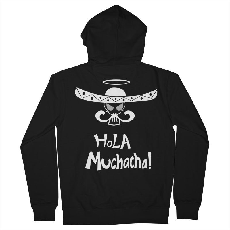 Hola CHA CHA! Men's Zip-Up Hoody by POP COLOR BOT