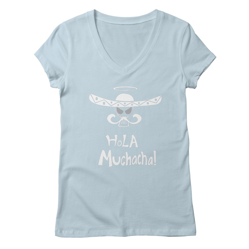 Hola CHA CHA! Women's V-Neck by POP COLOR BOT