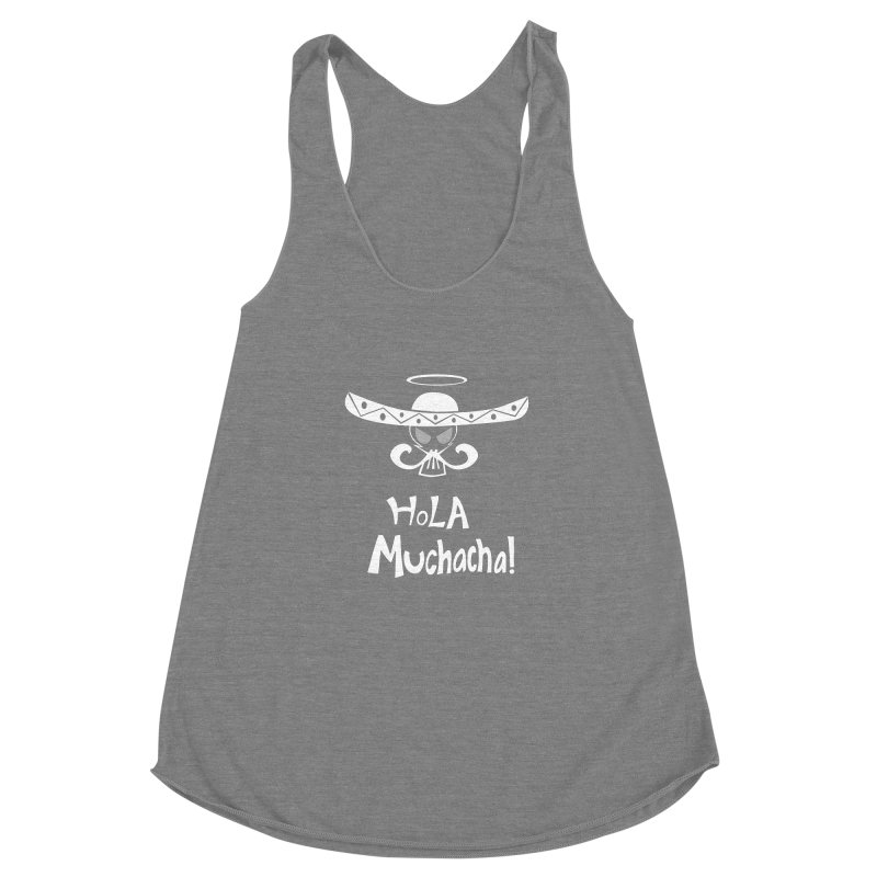 Hola CHA CHA! Women's Racerback Triblend Tank by POP COLOR BOT