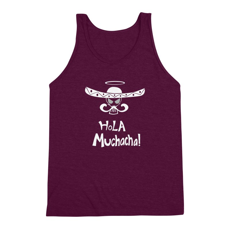 Hola CHA CHA! Men's Triblend Tank by POP COLOR BOT