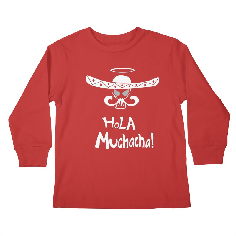 Hola CHA CHA! Kids Longsleeve T-Shirt by POP COLOR BOT