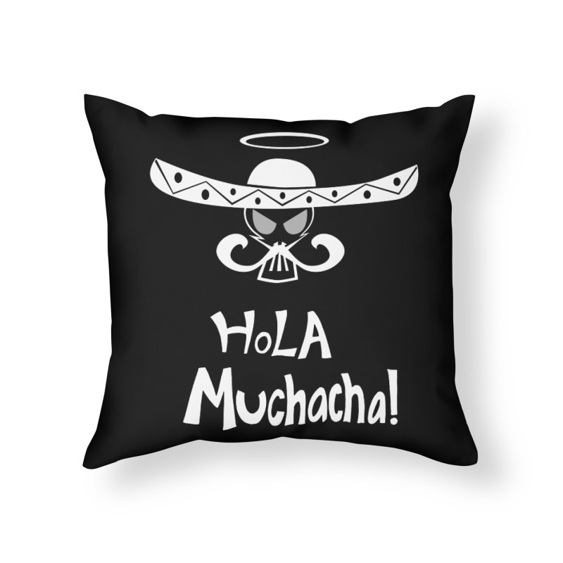 Hola CHA CHA! Home Throw Pillow by POP COLOR BOT