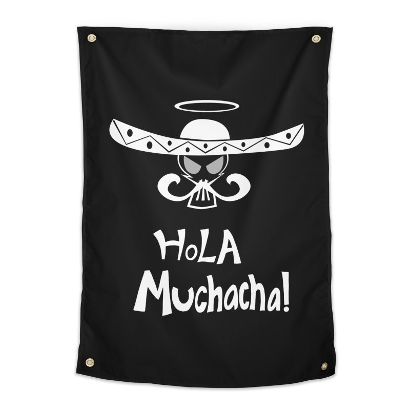 Hola CHA CHA! Home Tapestry by POP COLOR BOT