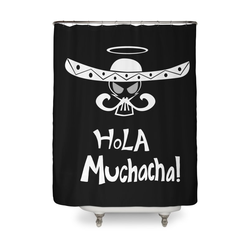 Hola CHA CHA! Home Shower Curtain by POP COLOR BOT