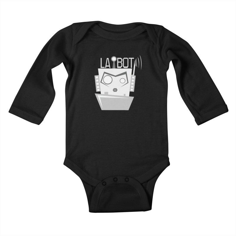 LA BOT 2.0 Kids Baby Longsleeve Bodysuit by POP COLOR BOT
