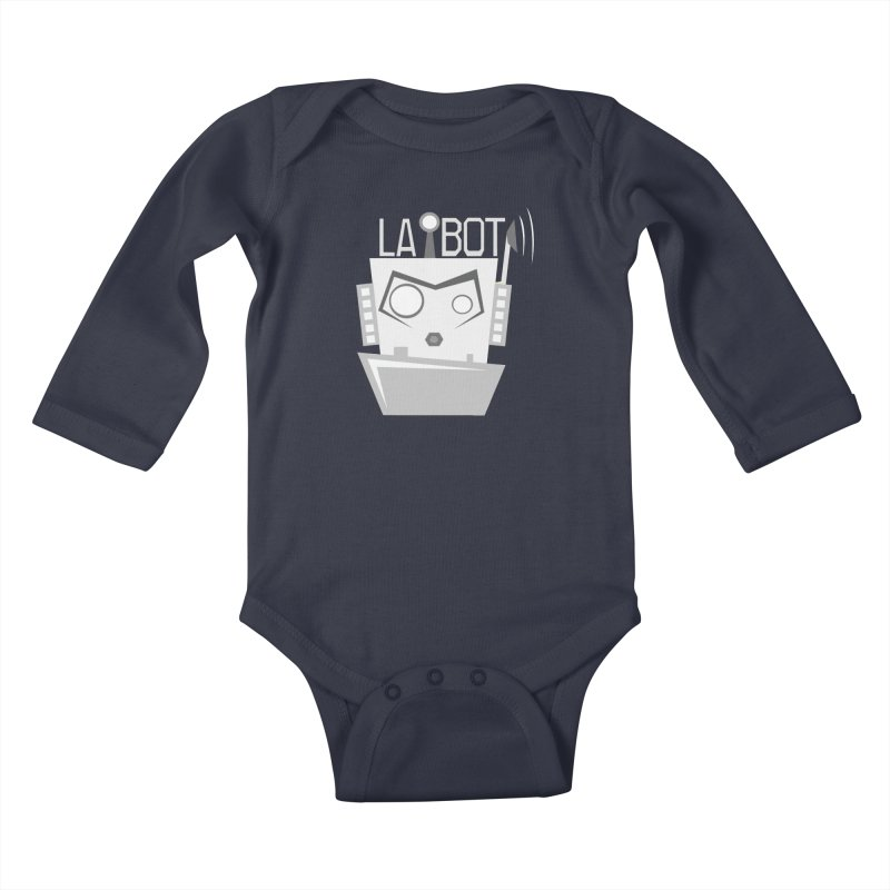 LA BOT 2.0 Kids Baby Longsleeve Bodysuit by POP COLOR BOT