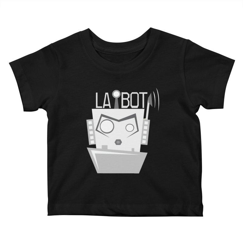 LA BOT 2.0 Kids Baby T-Shirt by POP COLOR BOT