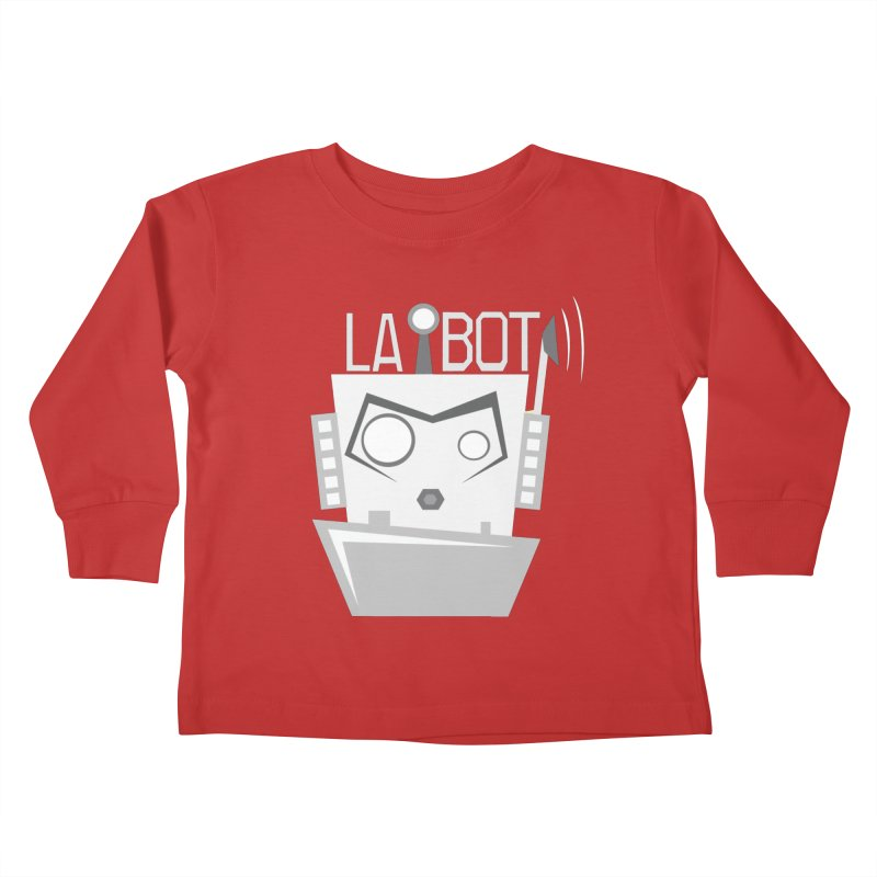LA BOT 2.0 Kids Toddler Longsleeve T-Shirt by POP COLOR BOT
