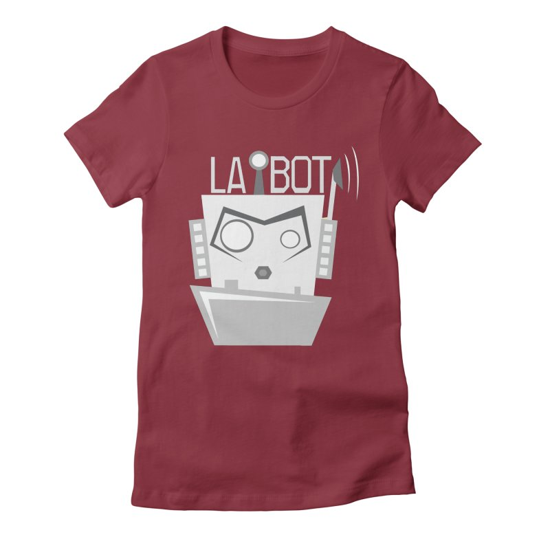 LA BOT 2.0 Women's Fitted T-Shirt by POP COLOR BOT