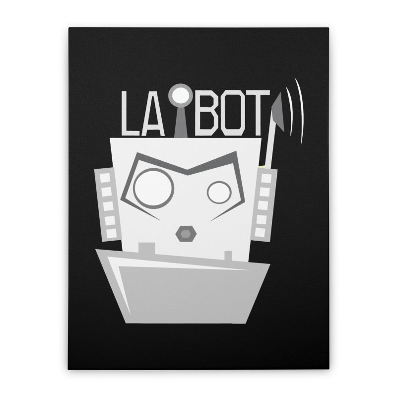 LA BOT 2.0 Home Stretched Canvas by POP COLOR BOT