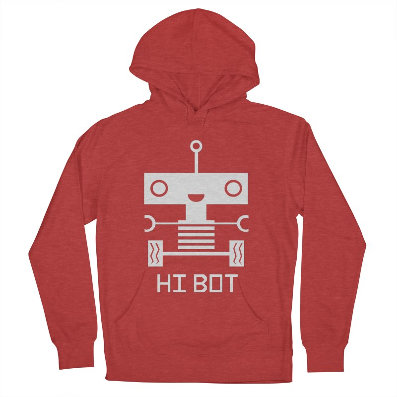 Hi baby BOT Women's Pullover Hoody by POP COLOR BOT