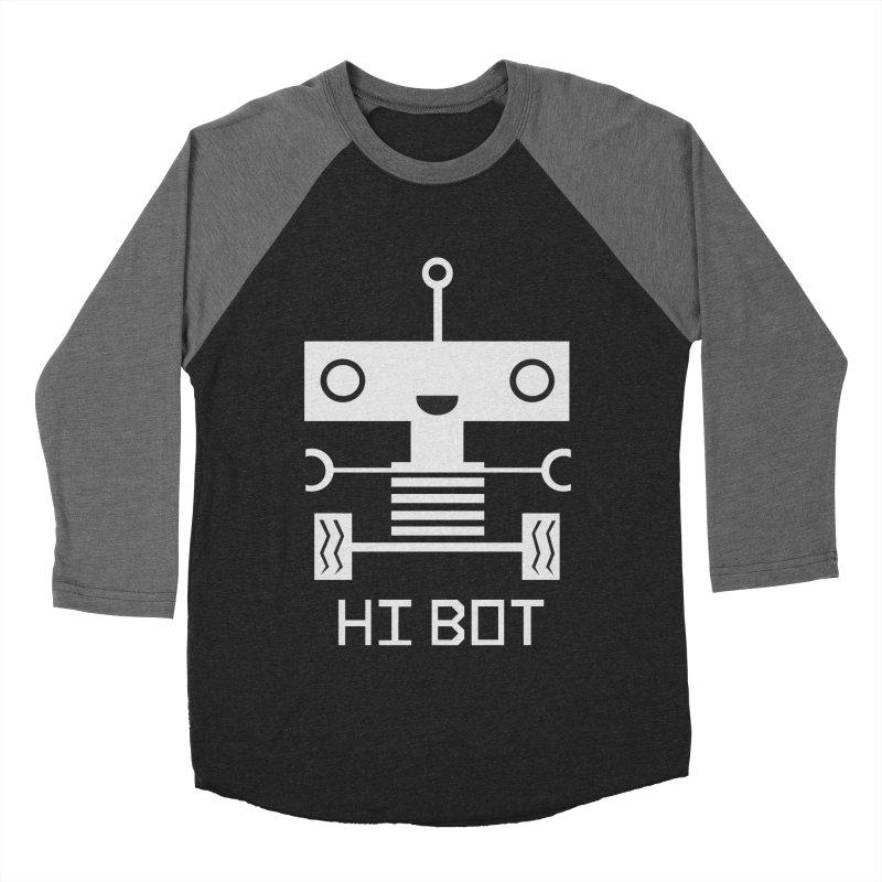 Hi baby BOT Men's Baseball Triblend T-Shirt by POP COLOR BOT