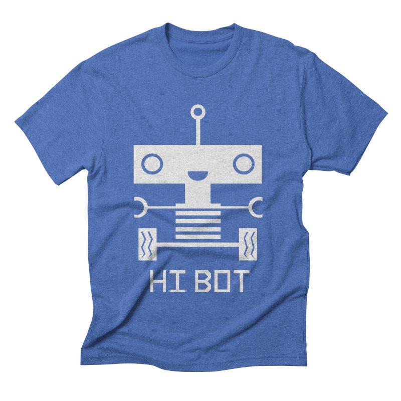 Hi baby BOT Men's Triblend T-shirt by POP COLOR BOT