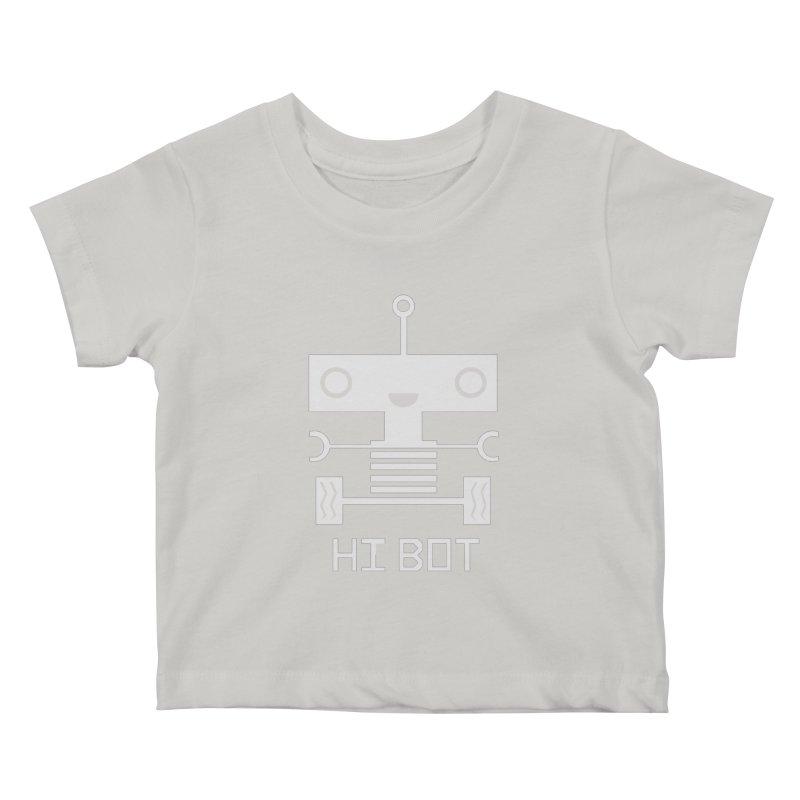 Hi baby BOT Kids Baby T-Shirt by POP COLOR BOT