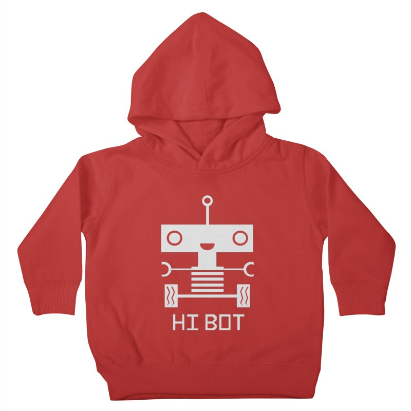 Hi baby BOT Kids Toddler Pullover Hoody by POP COLOR BOT