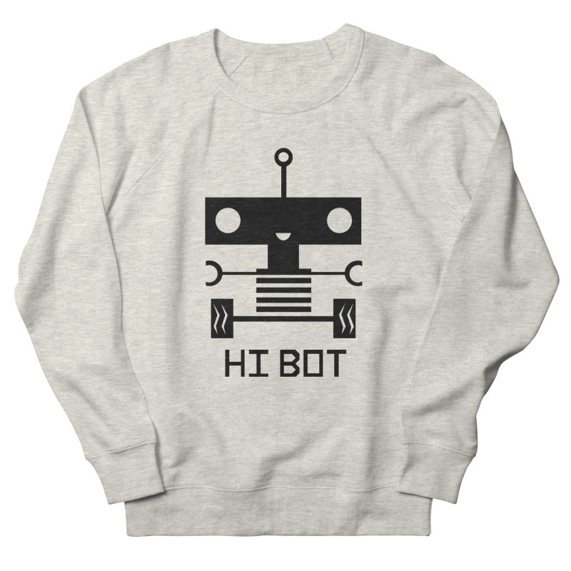Dark Baby Bot Men's French Terry Sweatshirt by POP COLOR BOT