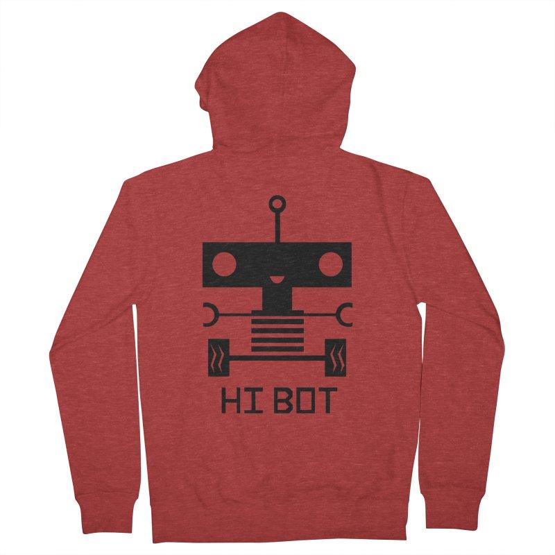 Dark Baby Bot Men's Zip-Up Hoody by POP COLOR BOT