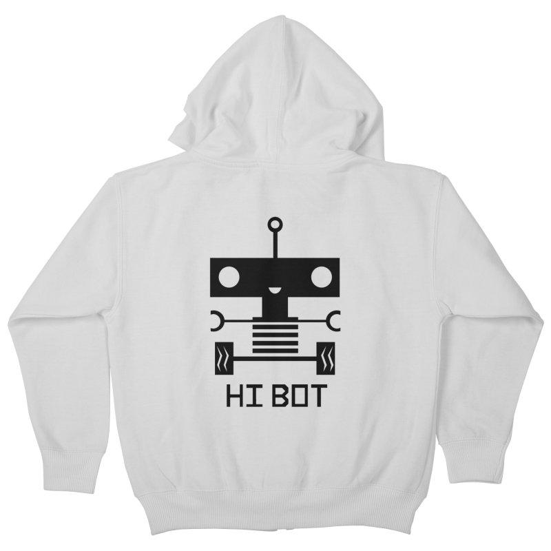 Dark Baby Bot Kids Zip-Up Hoody by POP COLOR BOT