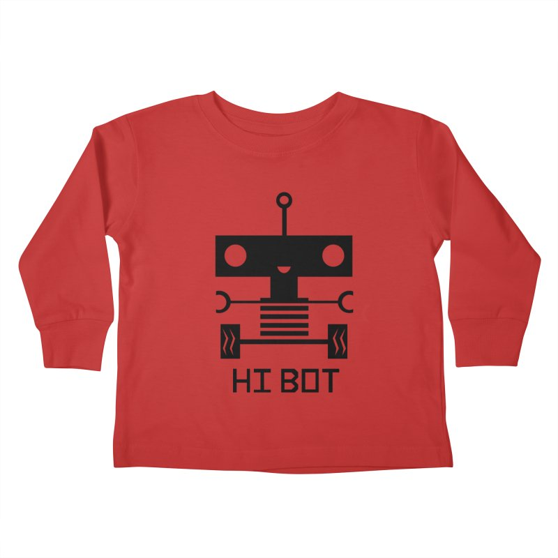 Dark Baby Bot Kids Toddler Longsleeve T-Shirt by POP COLOR BOT