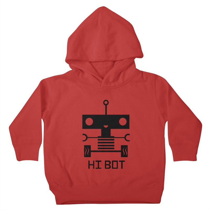 Dark Baby Bot Kids Toddler Pullover Hoody by POP COLOR BOT