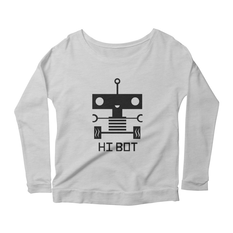 Dark Baby Bot Women's Longsleeve Scoopneck  by POP COLOR BOT