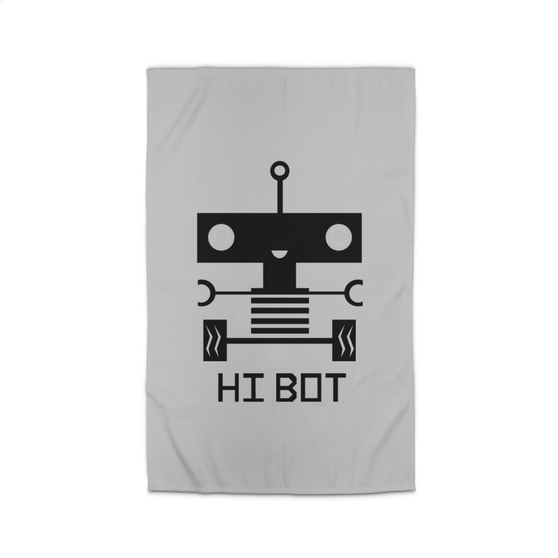 Dark Baby Bot Home Rug by POP COLOR BOT