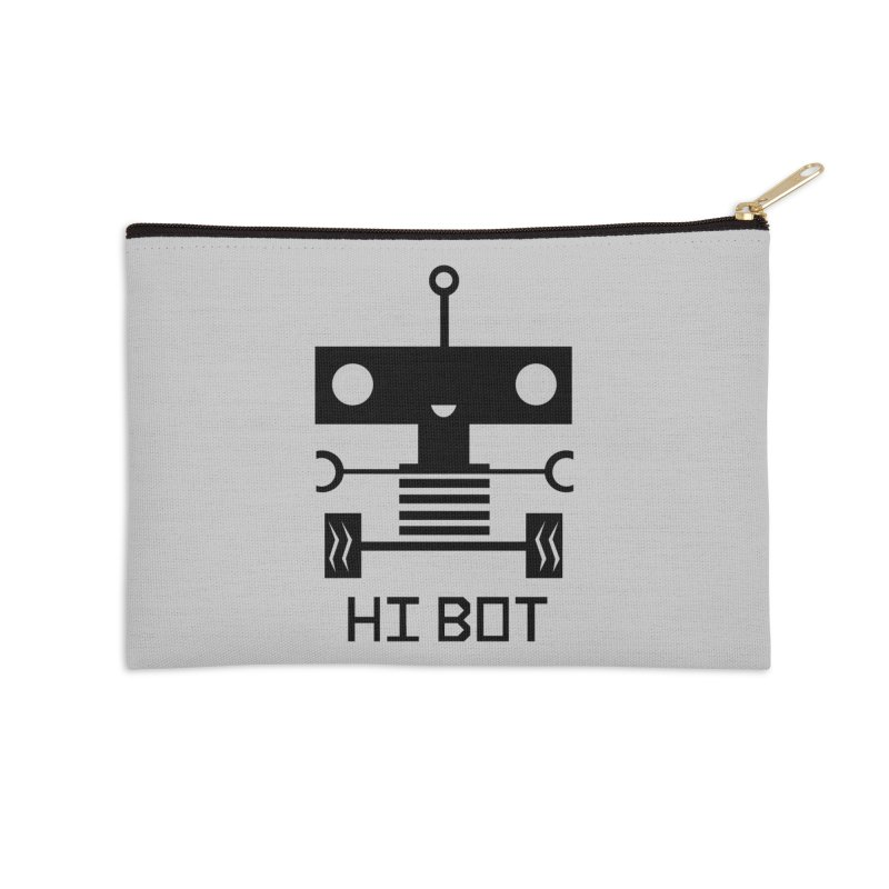 Dark Baby Bot Accessories Zip Pouch by POP COLOR BOT