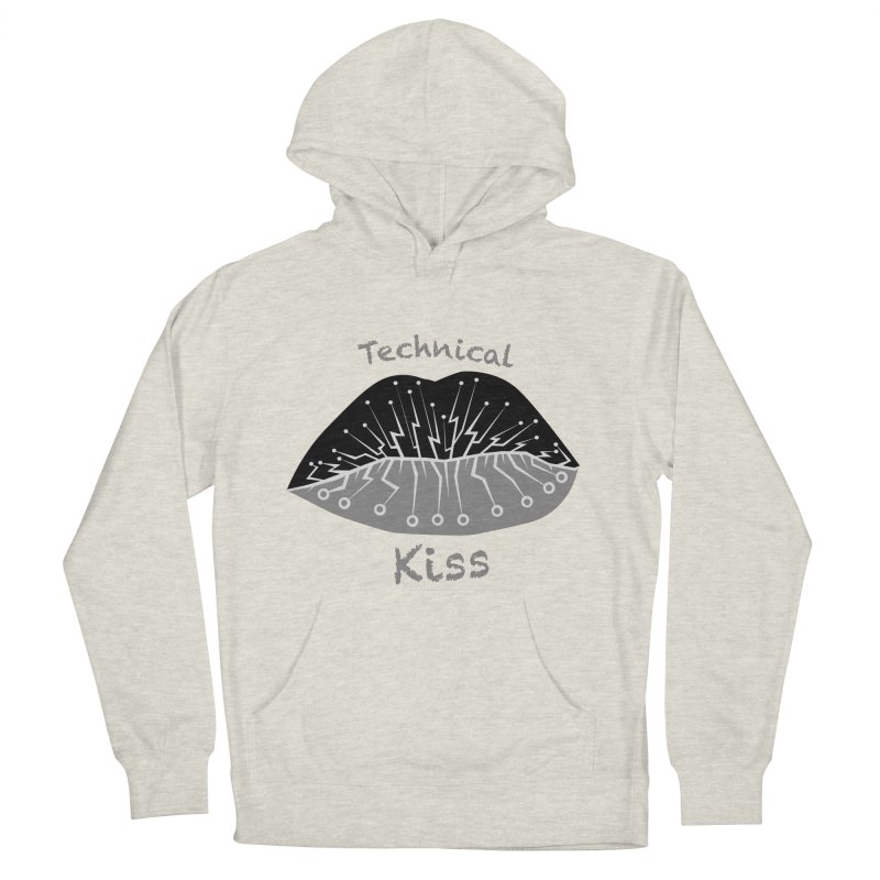 Technical Kiss Women's Pullover Hoody by POP COLOR BOT