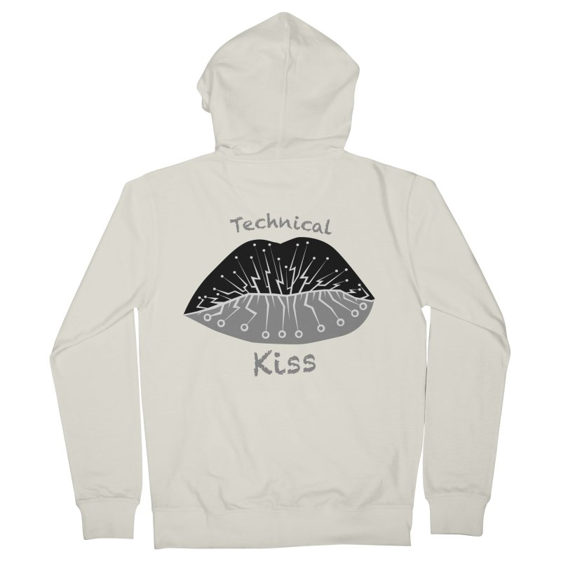 Technical Kiss Women's Zip-Up Hoody by POP COLOR BOT