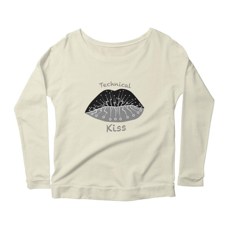 Technical Kiss Women's Longsleeve Scoopneck  by POP COLOR BOT