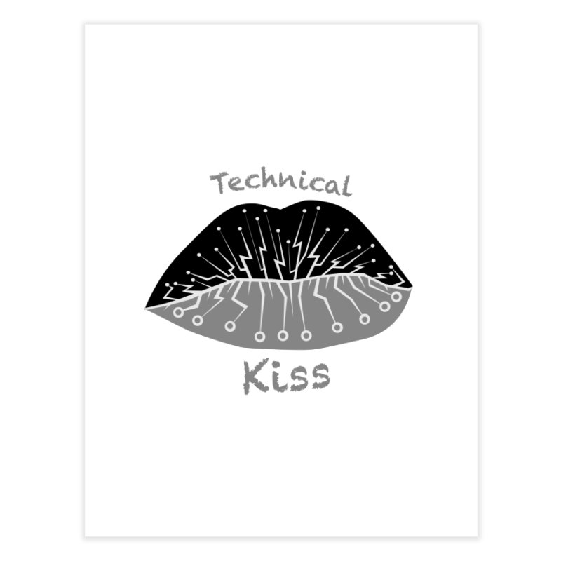 Technical Kiss Home Fine Art Print by POP COLOR BOT
