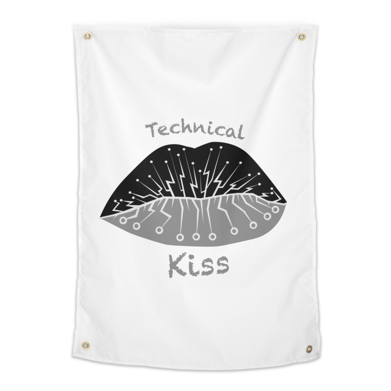 Technical Kiss Home Tapestry by POP COLOR BOT