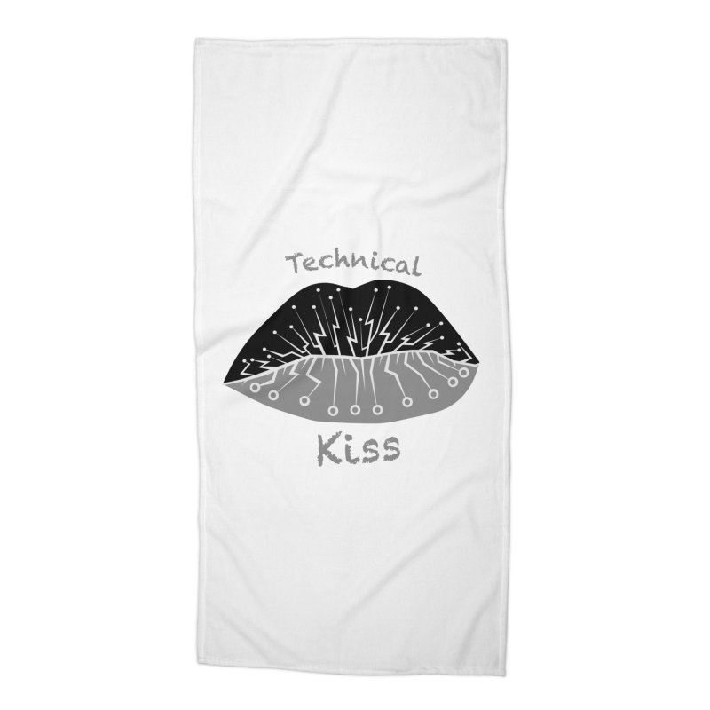 Technical Kiss Accessories Beach Towel by POP COLOR BOT