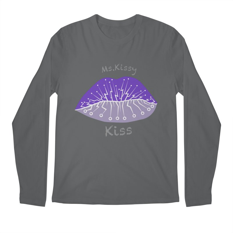 Ms.Kissy Kiss Men's Longsleeve T-Shirt by POP COLOR BOT
