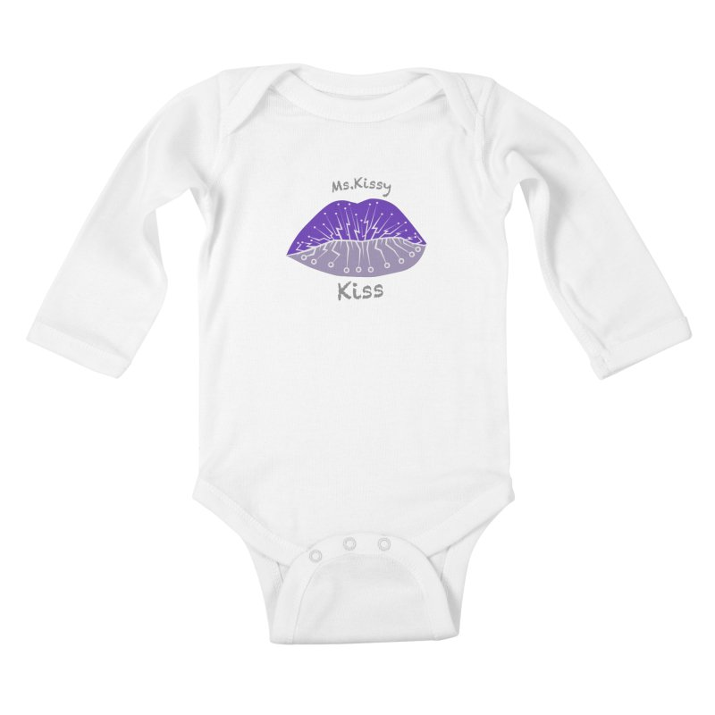 Ms.Kissy Kiss Kids Baby Longsleeve Bodysuit by POP COLOR BOT