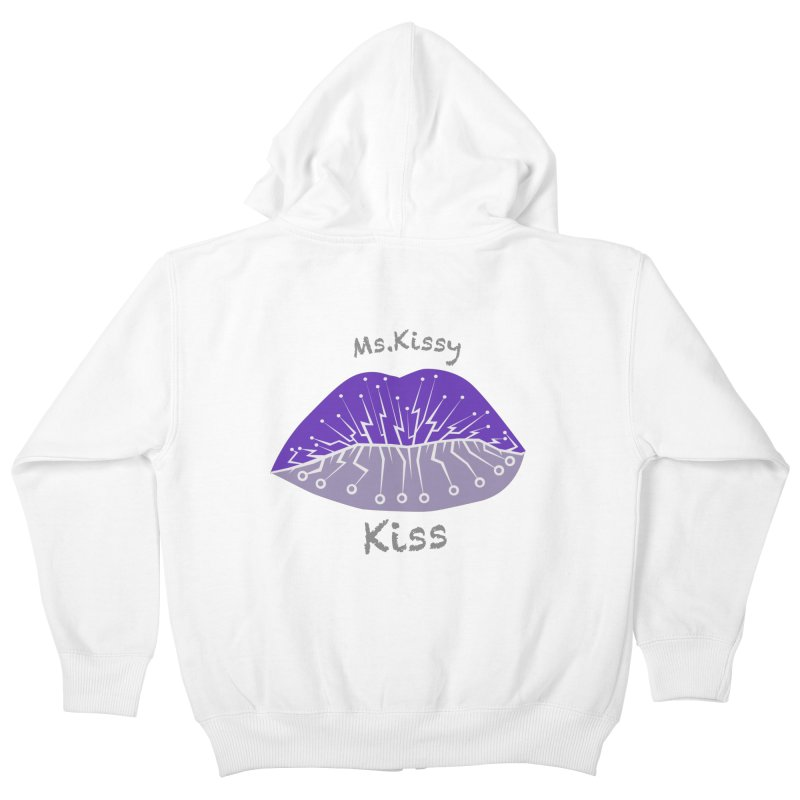Ms.Kissy Kiss Kids Zip-Up Hoody by POP COLOR BOT