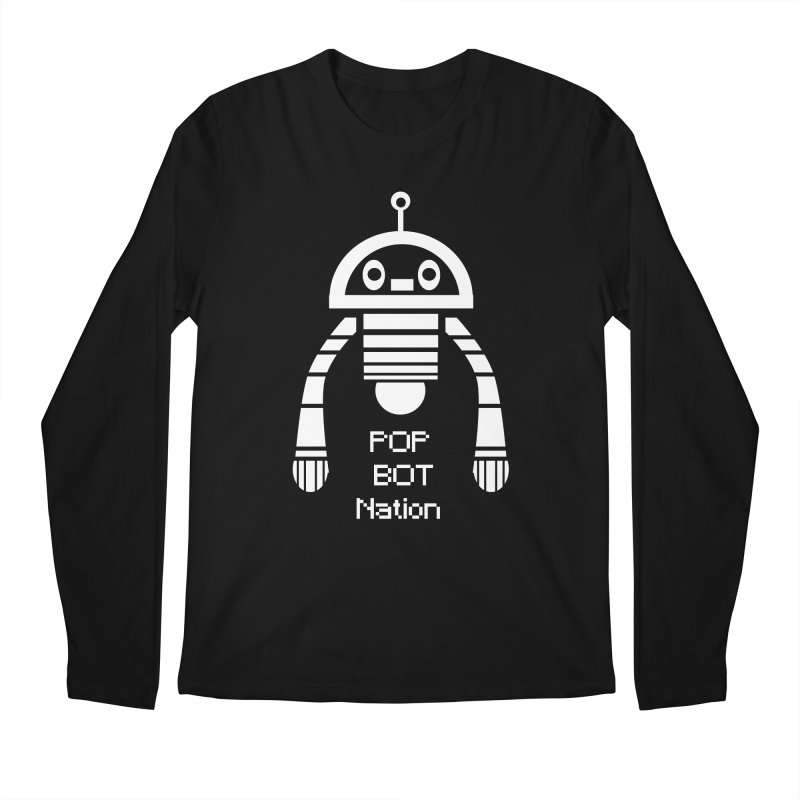 POP BOT NATION Men's Longsleeve T-Shirt by POP COLOR BOT