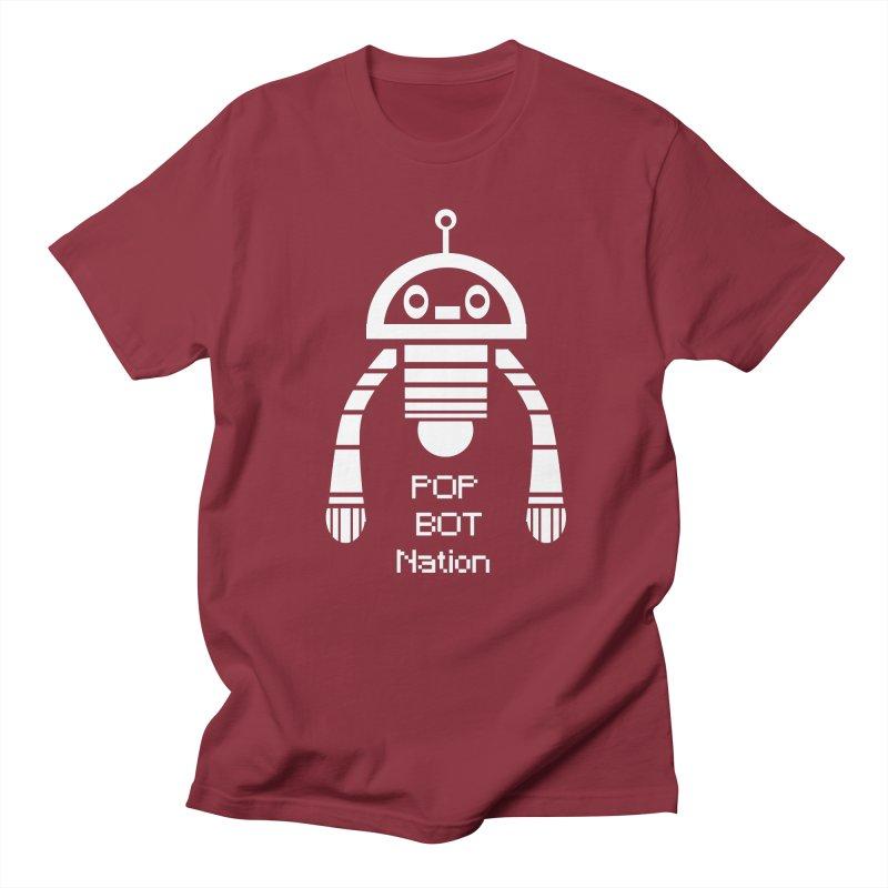 POP BOT NATION Men's T-shirt by POP COLOR BOT