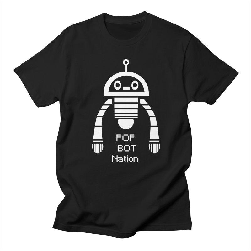 POP BOT NATION Men's Regular T-Shirt by POP COLOR BOT