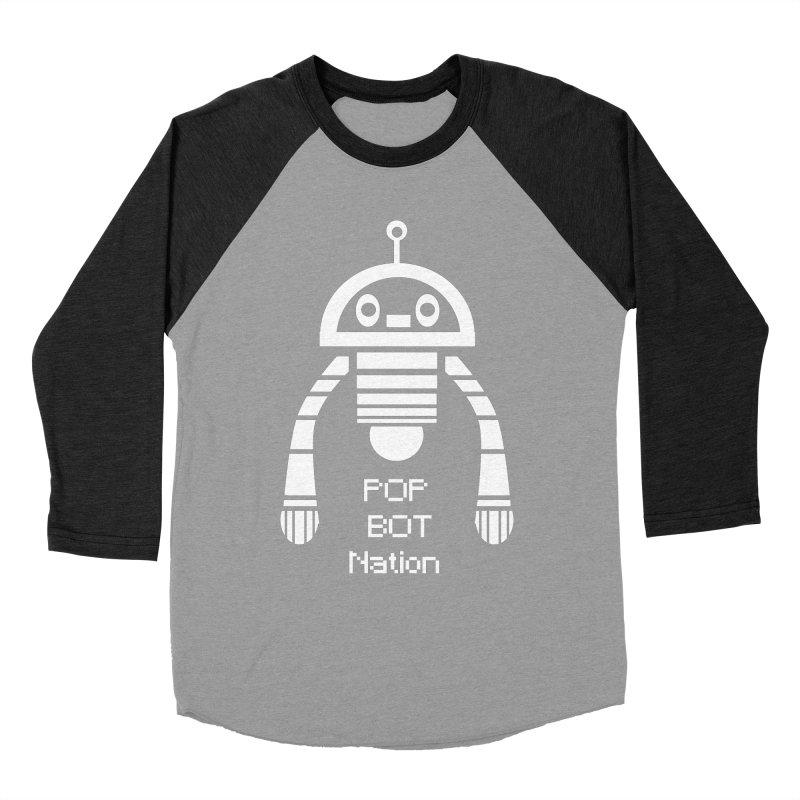 POP BOT NATION Men's Baseball Triblend T-Shirt by POP COLOR BOT