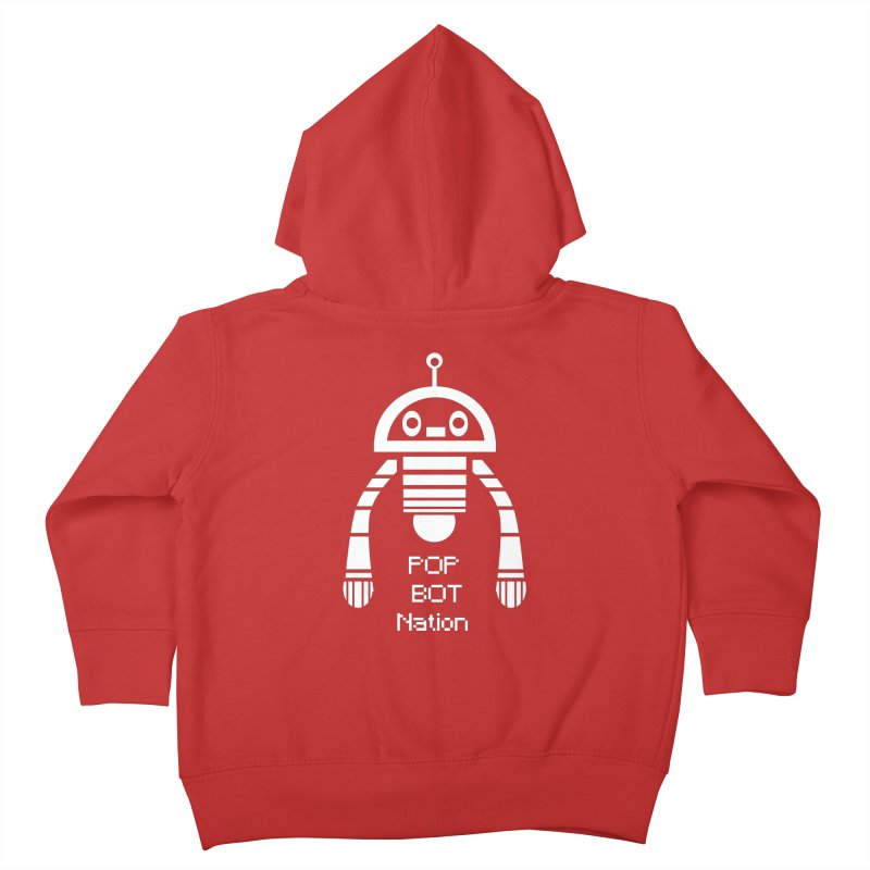 POP BOT NATION Kids Toddler Zip-Up Hoody by POP COLOR BOT