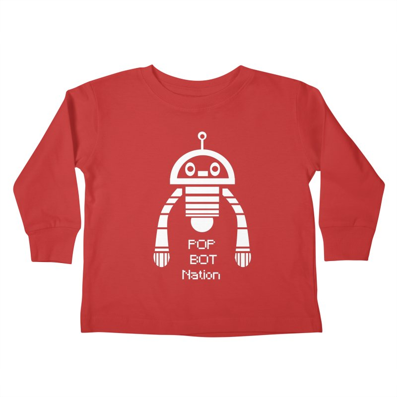 POP BOT NATION Kids Toddler Longsleeve T-Shirt by POP COLOR BOT