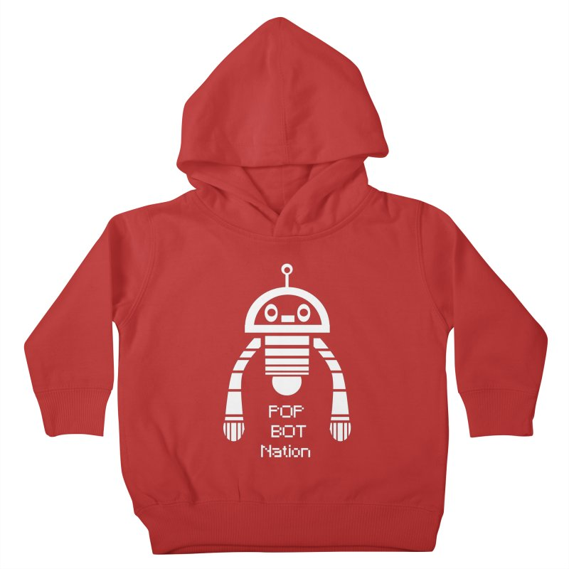 POP BOT NATION Kids Toddler Pullover Hoody by POP COLOR BOT