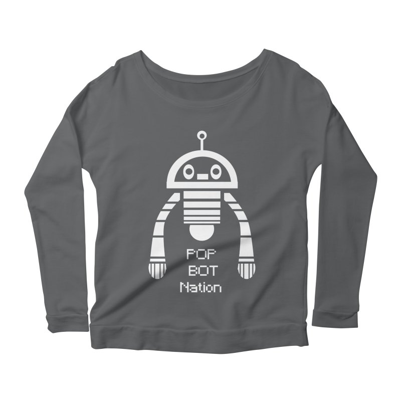 POP BOT NATION Women's Longsleeve Scoopneck  by POP COLOR BOT