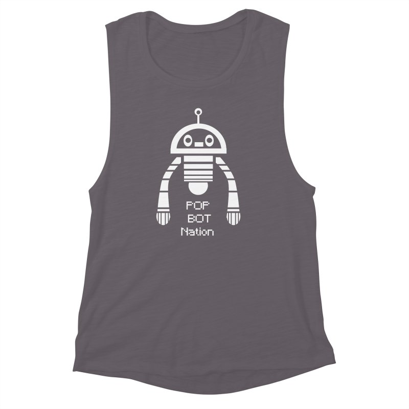 POP BOT NATION Women's Muscle Tank by POP COLOR BOT