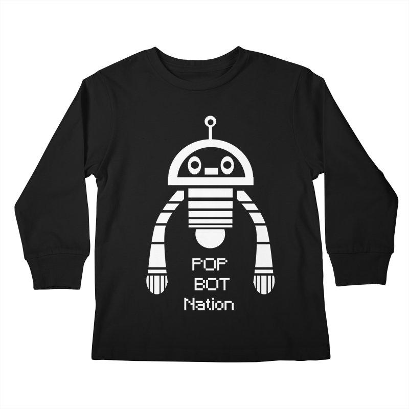 POP BOT NATION Kids Longsleeve T-Shirt by POP COLOR BOT