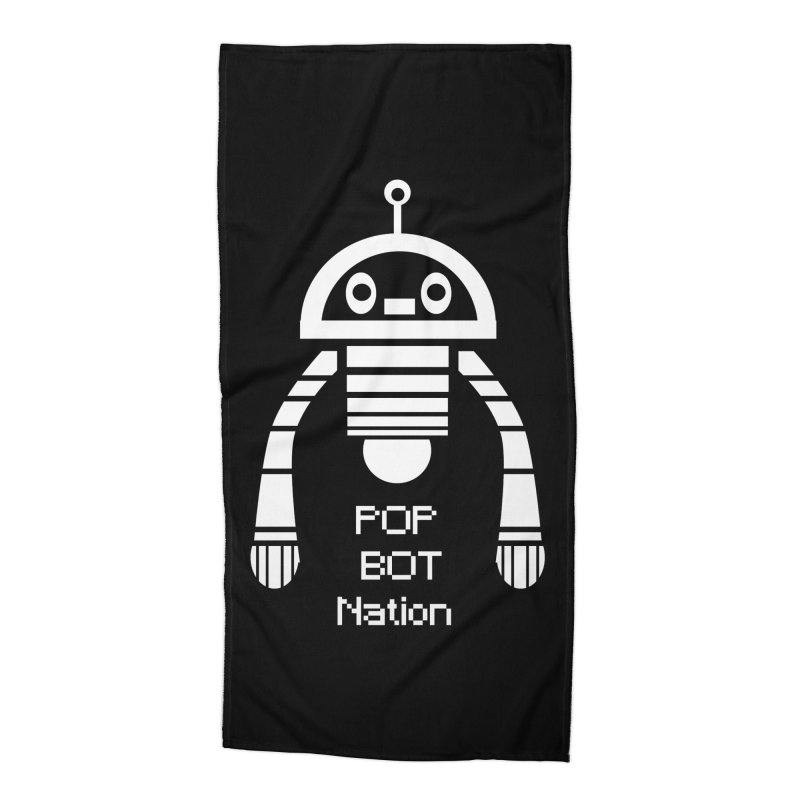 POP BOT NATION Accessories Beach Towel by POP COLOR BOT